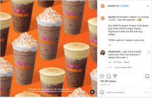 Dunkin announcing promotional deals
