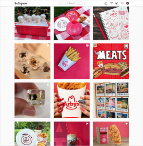 Instagram feed of Arby's