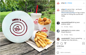 Arby's Instagram post comments