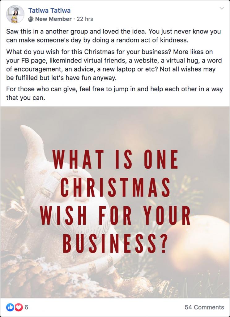 Tatiwa Tatiwa Facebook post