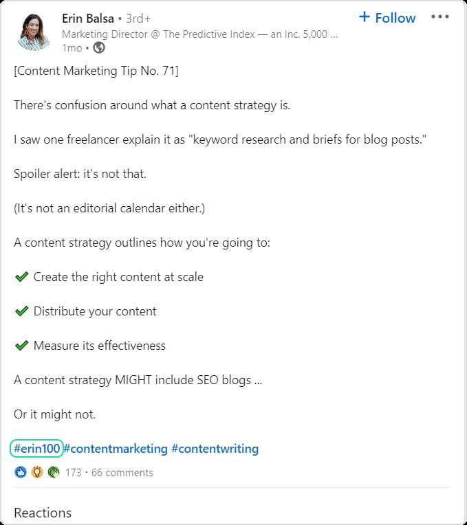 Erin balsa LinkedIn