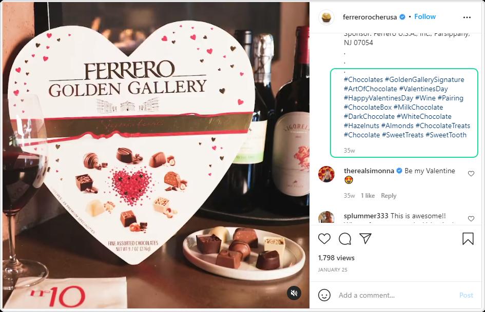 Ferrero Rocher instagram