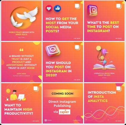 ContentStudio Instagram grid