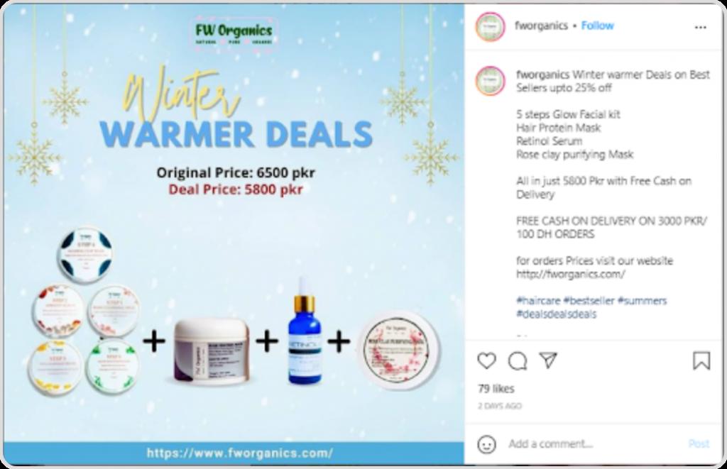 fworganics on Instagram using Hashtags